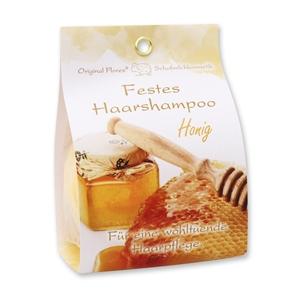 Festes Haarshampoo mit Schafmilch 58g in Papier-Tasche, Honig