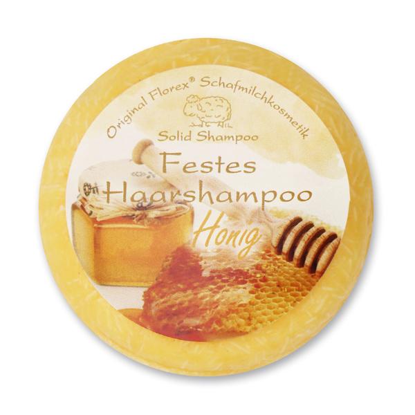 Festes Haarshampoo mit Schafmilch 58g in Folie, Honig
