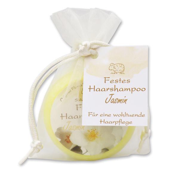 Festes Haarshampoo mit Schafmilch 58g im Organzasackerl, Jasmin
