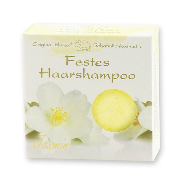 Festes Haarshampoo mit Schafmilch 58g in Papier-Schachtel, Jasmin
