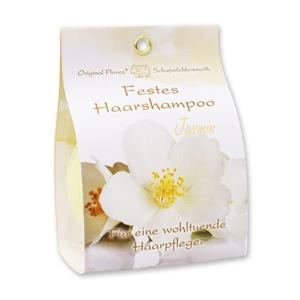 Festes Haarshampoo mit Schafmilch 58g in Papier-Tasche, Jasmin