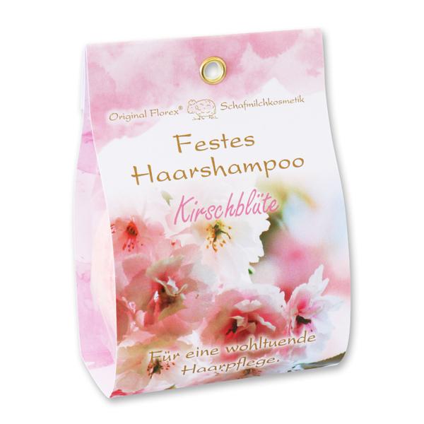 Festes Haarshampoo mit Schafmilch 58g in Papier-Tasche, Kirschblüte