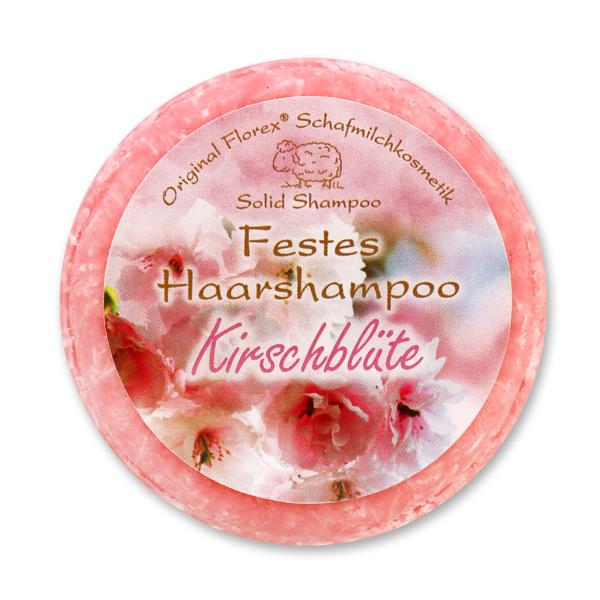 Festes Haarshampoo mit Schafmilch 58g in Folie, Kirschblüte