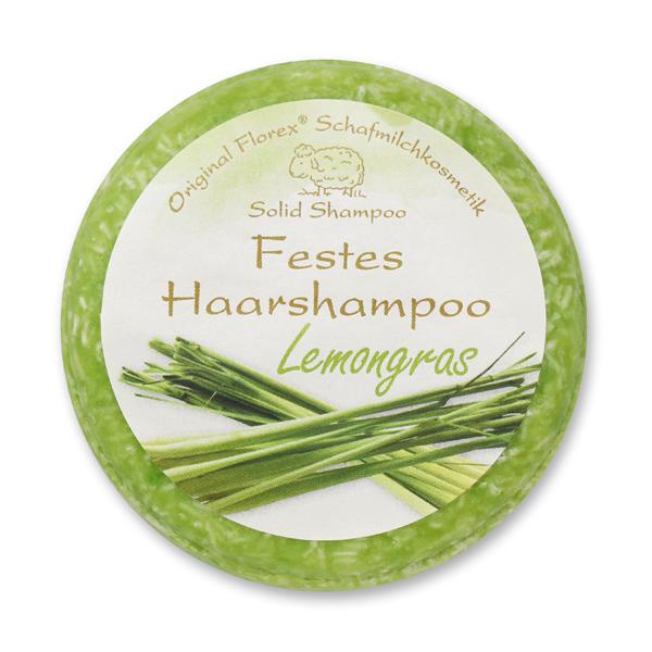 Festes Haarshampoo mit Schafmilch 58g in Folie, Lemongras