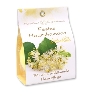 Festes Haarshampoo mit Schafmilch 58g in Papier-Tasche, Lindenblüte