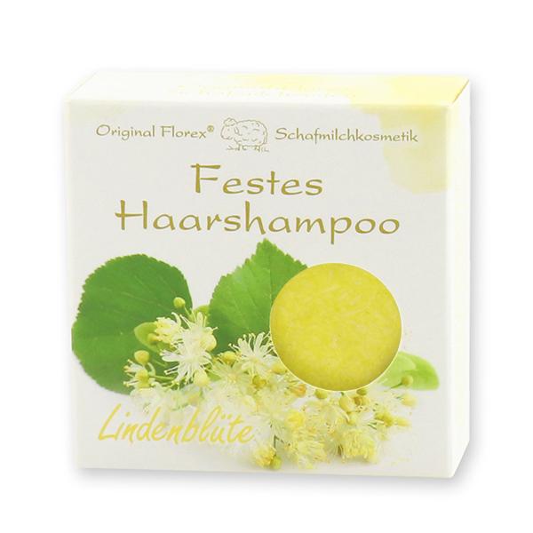 Festes Haarshampoo mit Schafmilch 58g in Papier-Schachtel, Lindenblüte