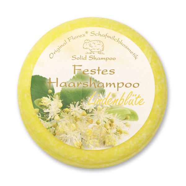 Festes Haarshampoo mit Schafmilch 58g in Folie, Lindenblüte