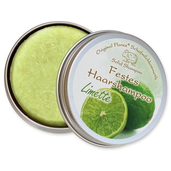 Festes Haarshampoo mit Schafmilch 58g in Dose, Limette