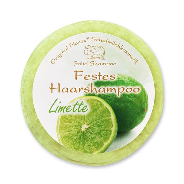 Festes Haarshampoo mit Schafmilch 58g in Folie, Limette