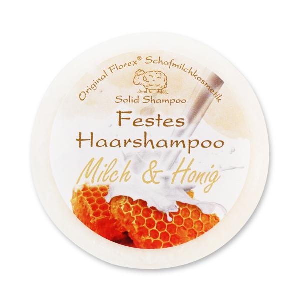 Festes Haarshampoo mit Schafmilch 58g in Folie, Milch & Honig