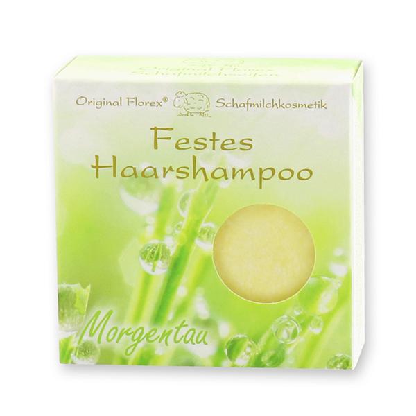 Festes Haarshampoo mit Schafmilch 58g in Papier-Schachtel, Morgentau