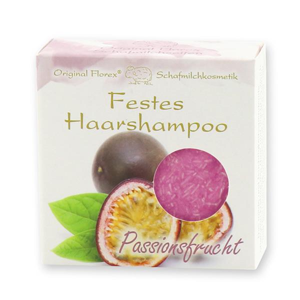 Festes Haarshampoo mit Schafmilch 58g in Papier-Schachtel, Passionsfrucht