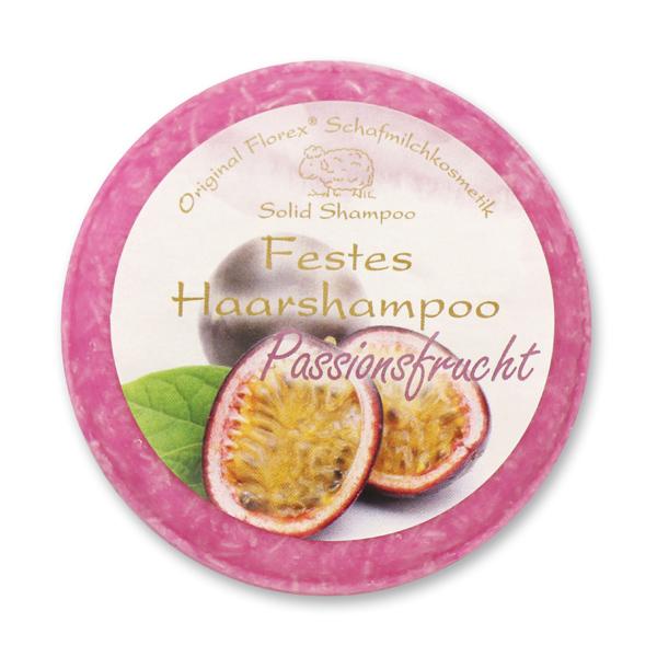 Festes Haarshampoo mit Schafmilch 58g in Folie, Passionsfrucht