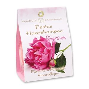 Festes Haarshampoo mit Schafmilch 58g in Papier-Tasche, Pfingstrose