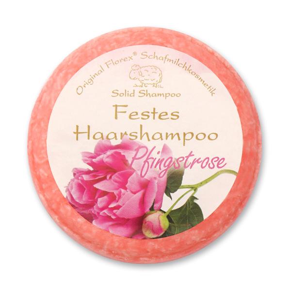 Festes Haarshampoo mit Schafmilch 58g in Folie, Pfingstrose