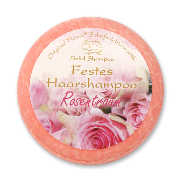 Solid hair shampoo with sheep milk 58g in cello, Dream of roses