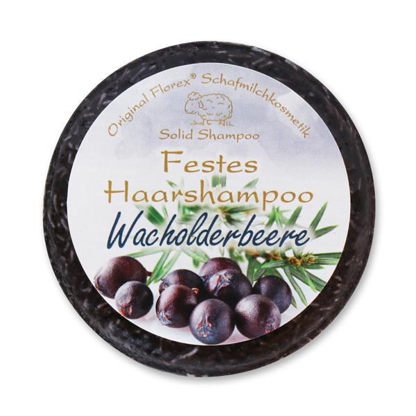 Festes Haarshampoo mit Schafmilch 58g in Folie, Wacholderbeere