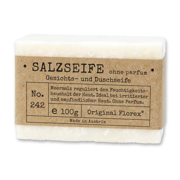 "Spezialseife kaltgerührt 100g ""Pure Soaps"" in Cello, Salzseife ohne Parfum"