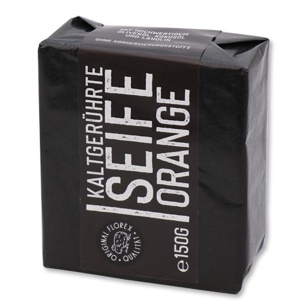 """Kaltgerührte 150g """"Black Edition"""" schwarz verpackt, Orange"""