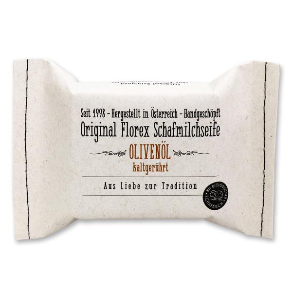 Kaltgerührte Seife 150g im genähten Papierbeutel, Olivenöl