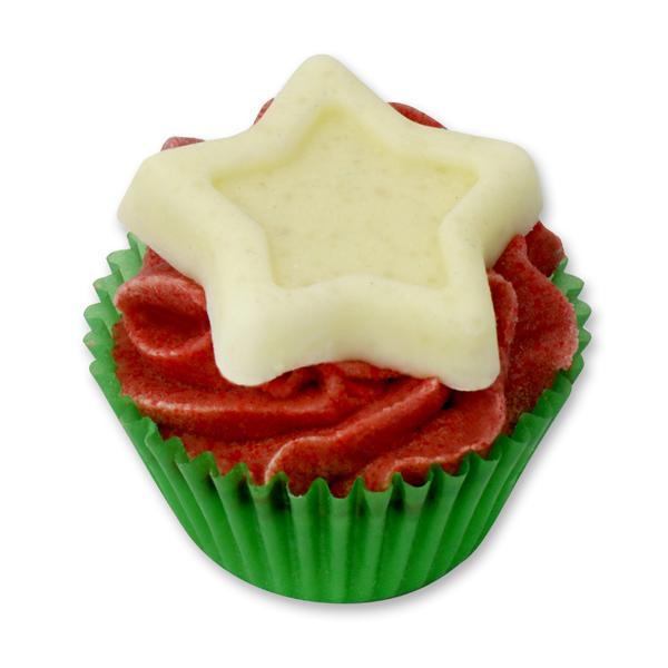 Badebutter-Cupcake mit Schafmilch 45g, Stern/Honig