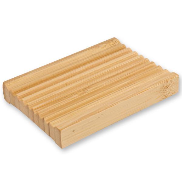 Seifenschale aus Bambus eckig