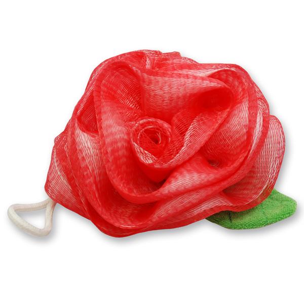 Duschpuschel Rose, rot