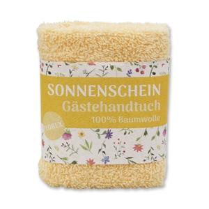 """Waschtuch 30x30cm """"Sonnenschein"""", gelb"""