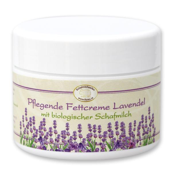 Pflegende Fettcreme mit biologischer Schafmilch 125ml, Lavendel