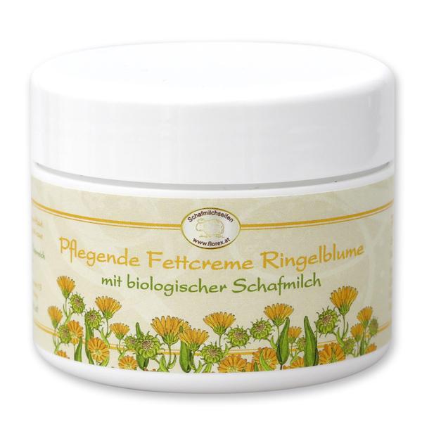 Pflegende Fettcreme mit biologischer Schafmilch 125ml, Ringelblume