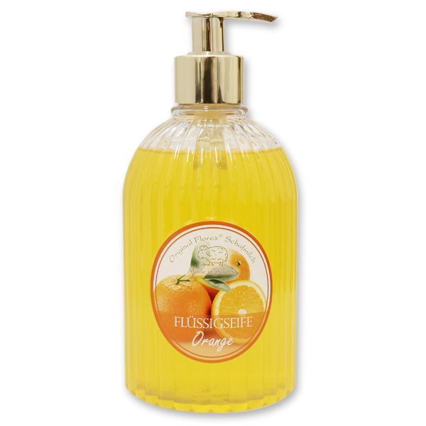 Liquid sheepmilk soap 500ml in a dispenser, Orange