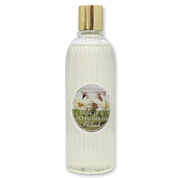 Dusch- & Schaumbad mit biologischer Schafmilch 330ml in der Flasche, Edelweiß