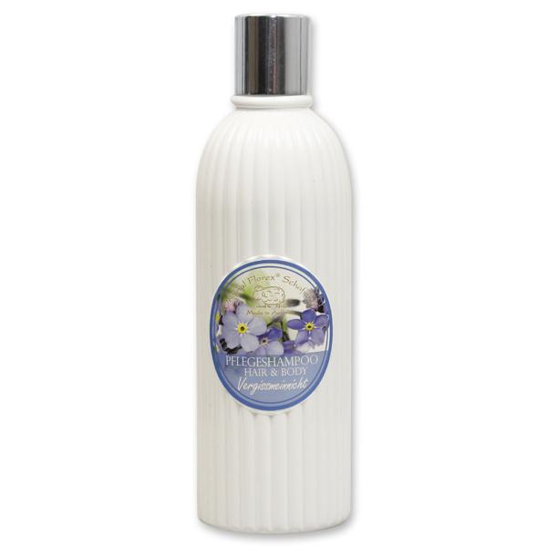 Pflegeshampoo Hair&Body mit biologischer Schafmilch 330ml in der Flasche, Vergissmeinnicht