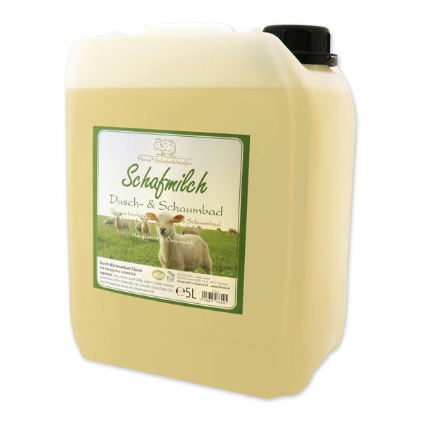 Dusch- & Schaumbad mit biologischer Schafmilch Nachfüller 5L im Kanister, Classic
