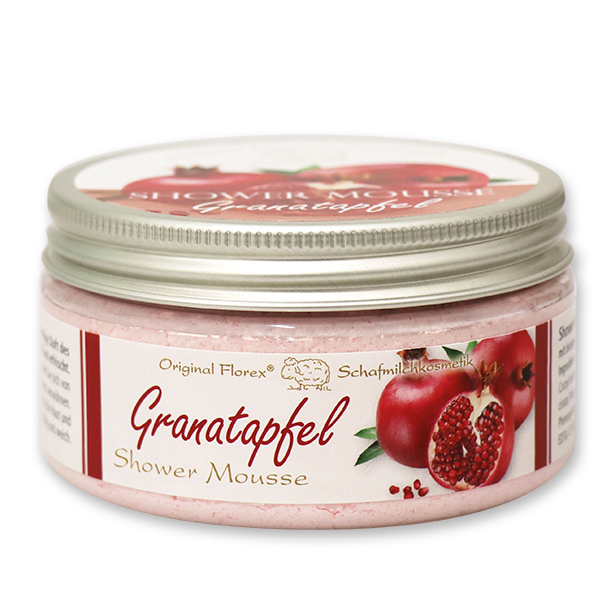 Shower Mousse with organic sheep milk 200ml, Pomegranate