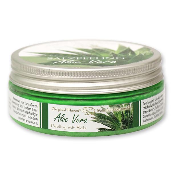 Salzpeeling mit biologischer Schafmilch 200ml, Aloe Vera