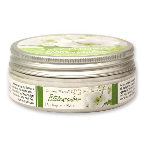Salzpeeling mit biologischer Schafmilch 200ml, Blütenzauber