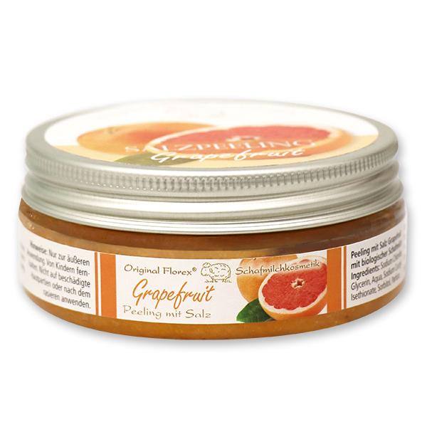 Salzpeeling mit biologischer Schafmilch 200ml, Grapefruit