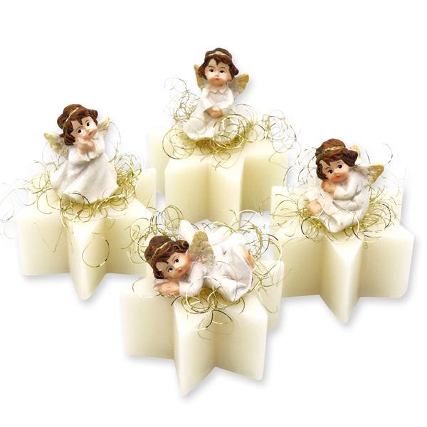 Schafmilchseife Stern midi 40g dekoriert mit Engel, Classic