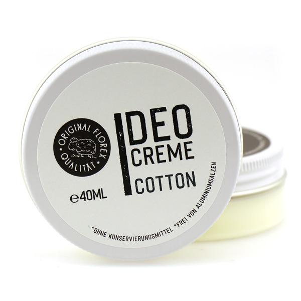 Deodorant Cream 40ml white, Cotton